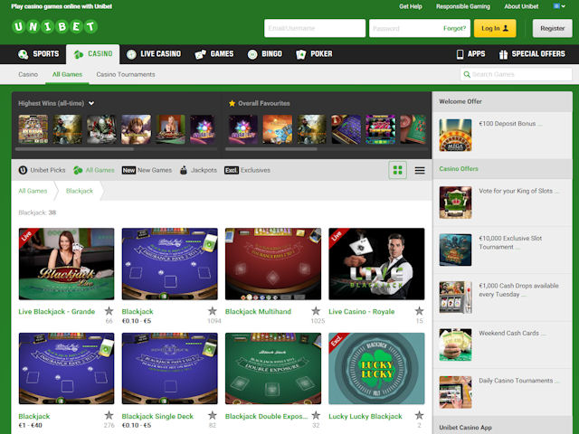 Unibet screenshot 1