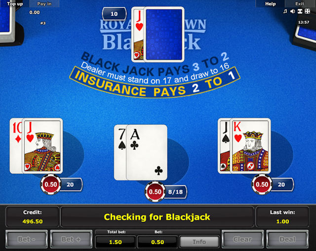 Online gra Royal Crown Blackjack za darmo